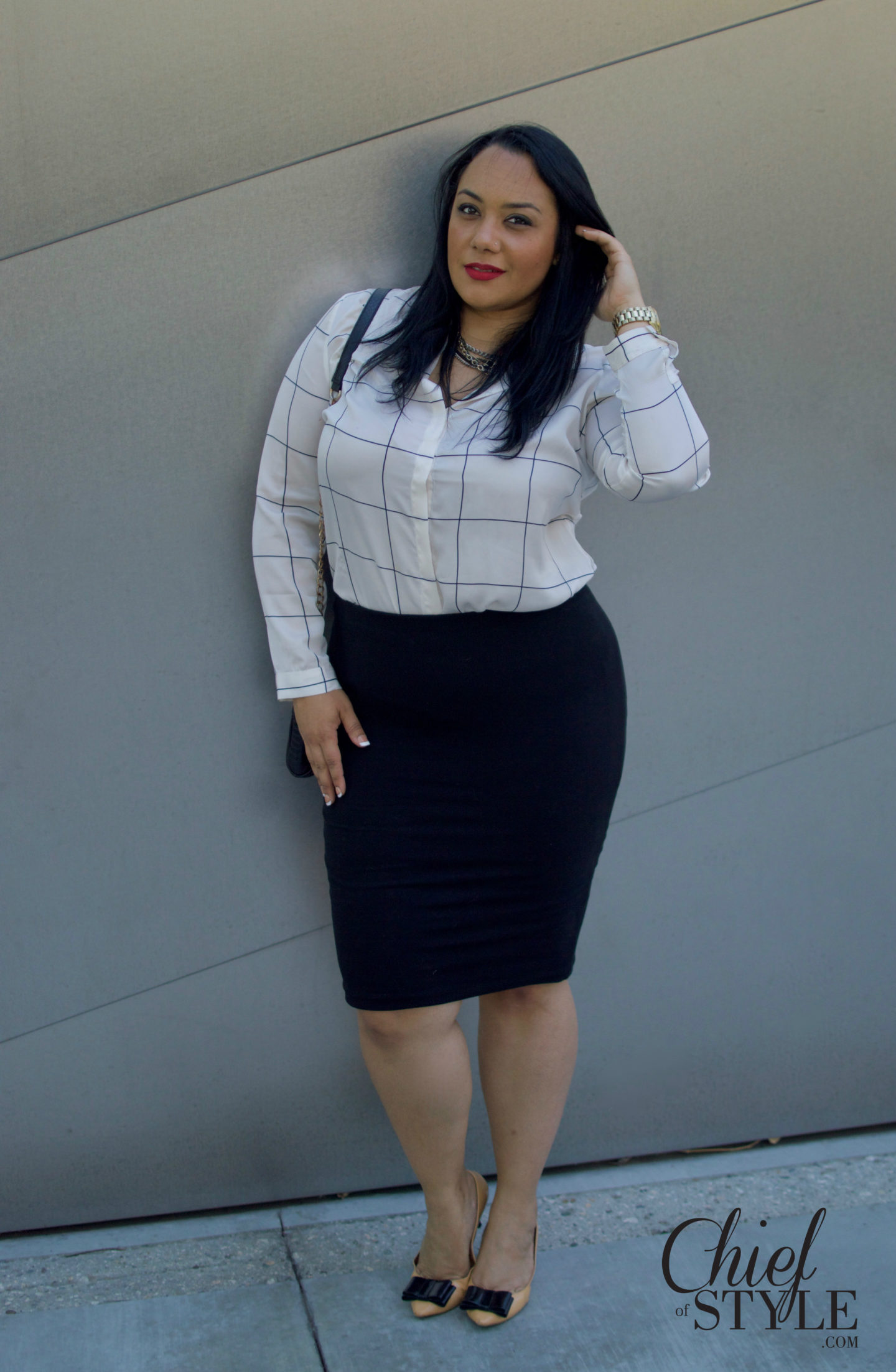 Amy Stretten is the Chief of Style. She is a plus size style blogger from Los Angeles, California.