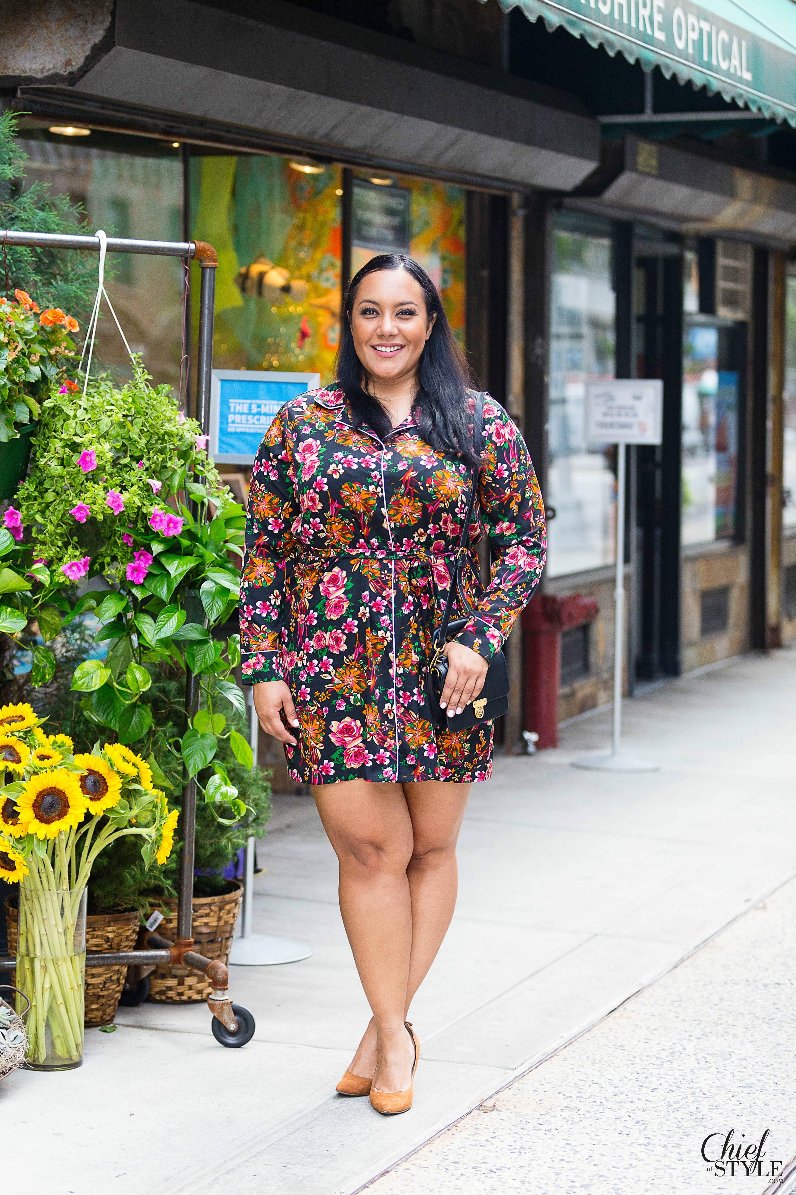 ASOS pj dress pajama dress fall wardrobe fall fashion ideas plus size fall winter fashion inspiration