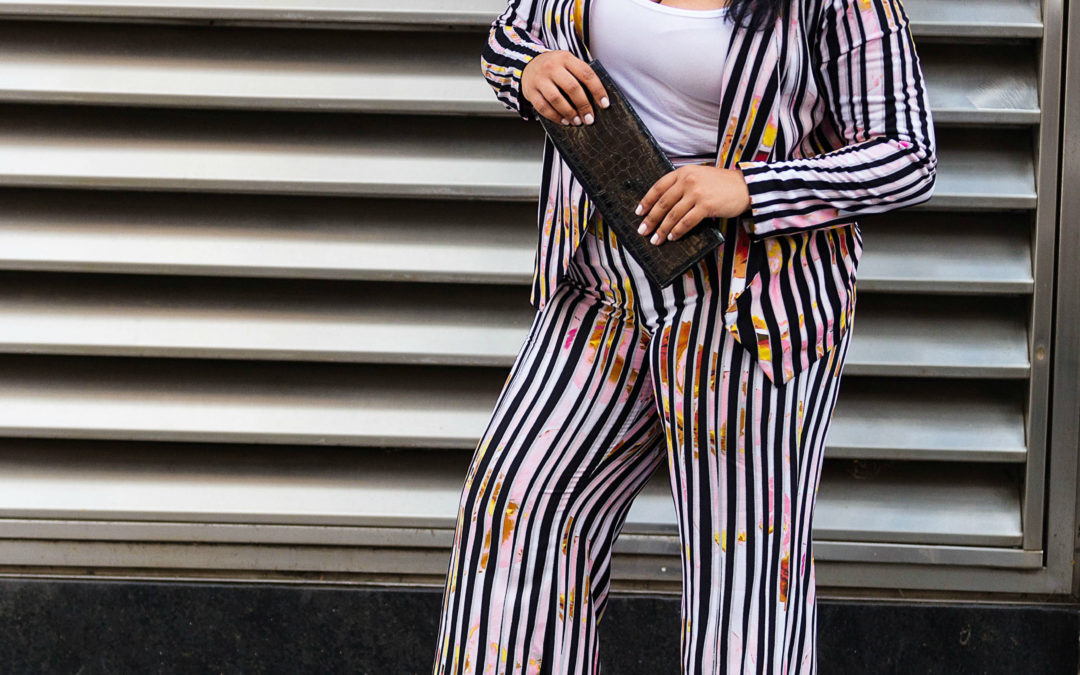 A new Take on a Pinstripe Suit