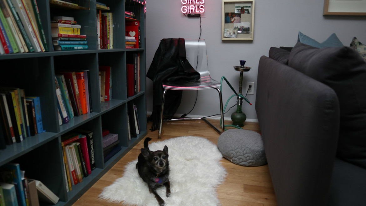 Amy Stretten, The Chief of Style wearing Parfait Lingerie apartment makeover with LindsayRenee Kennedy of Satin and Slate
