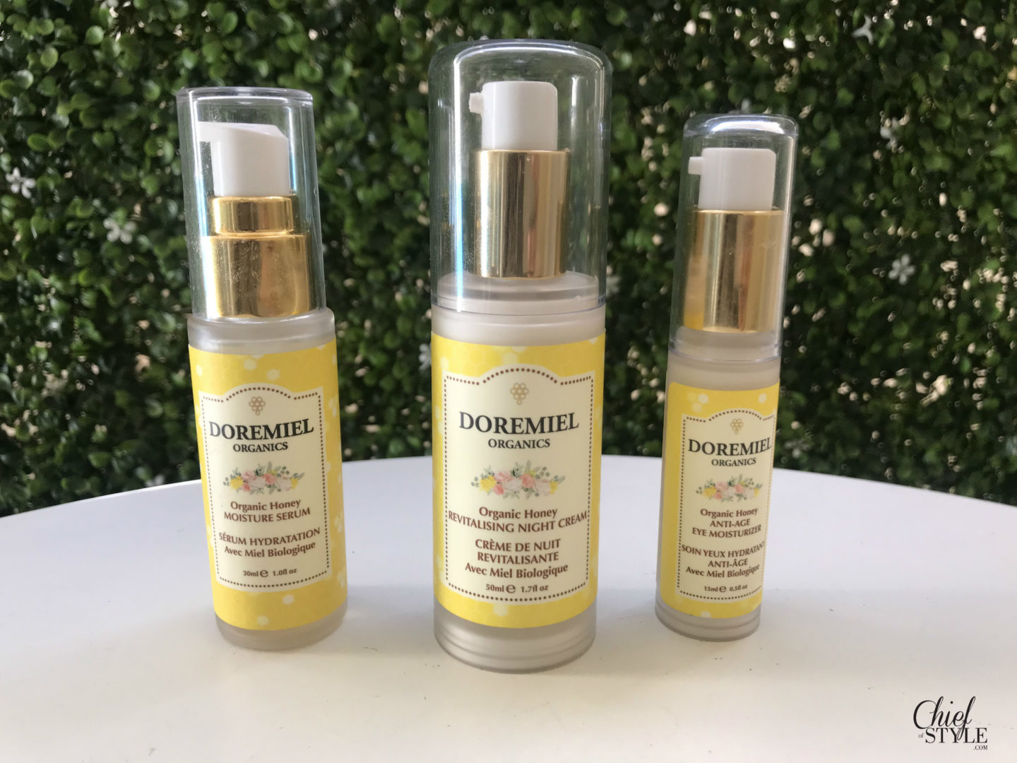 Amy Stretten Chief of Style reviewed Doremiel Organics skin care products