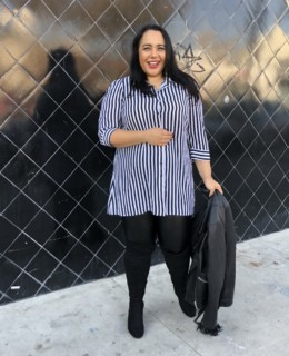 Amy Stretten, The Chief of Style, wearing plus size Australian clothing City Chic sold at Macys
