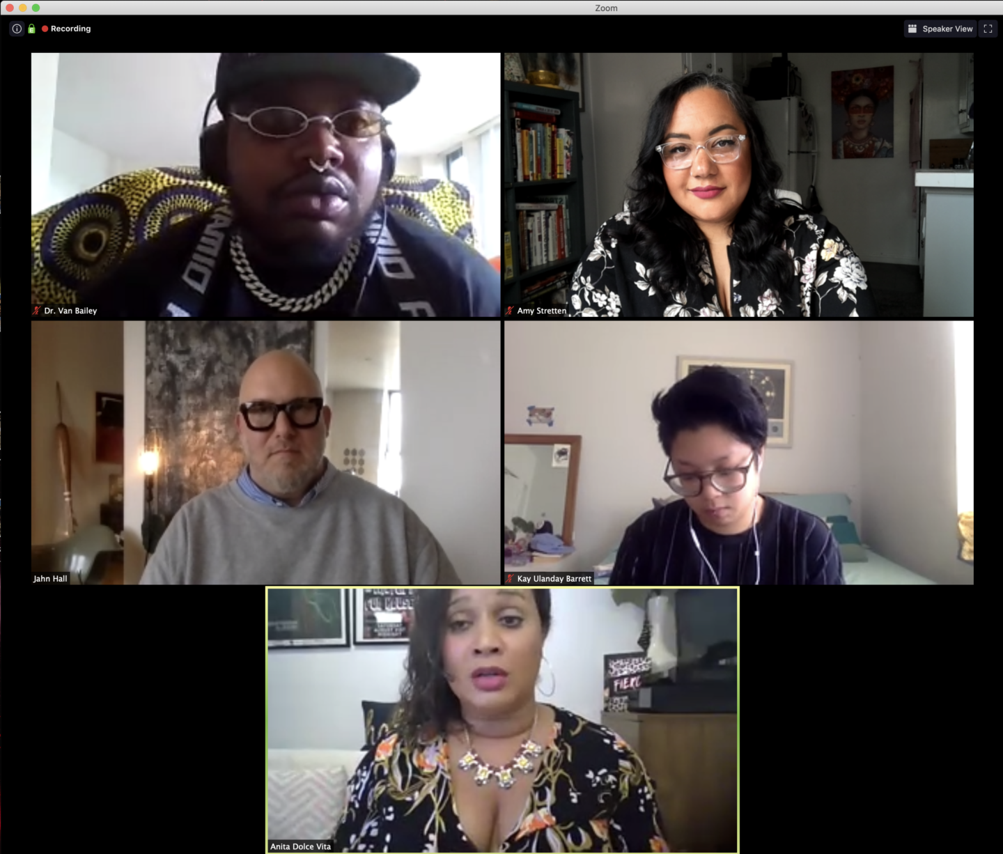 Amy Stretten Chief of Style and DapperQ panel on plus size inclusivity in queer fashion
