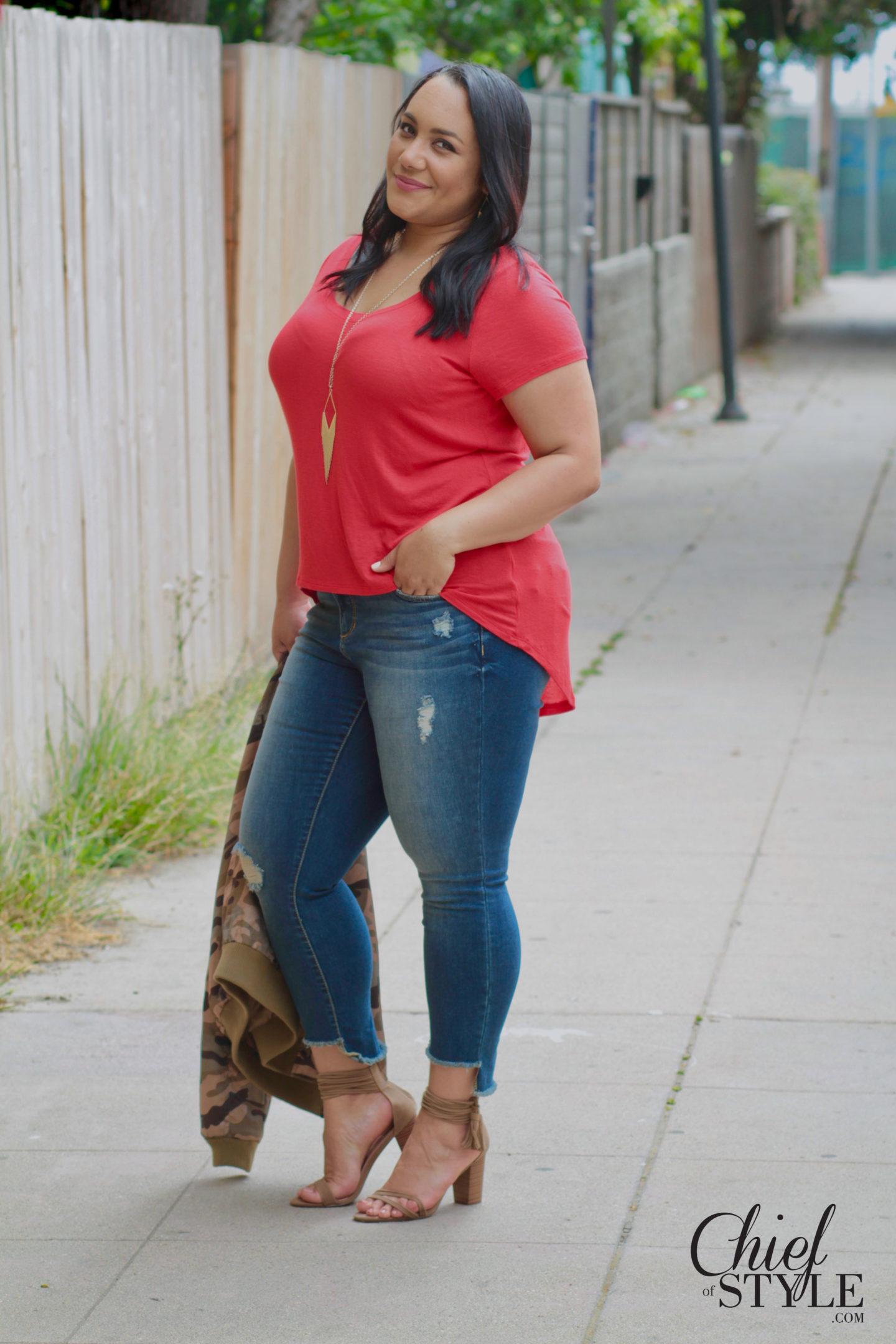 A Low-key Patriotic Look in Slink Jeans